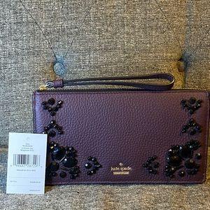 Kate Spade Deepplum Purple Wallet Wristlet NWT